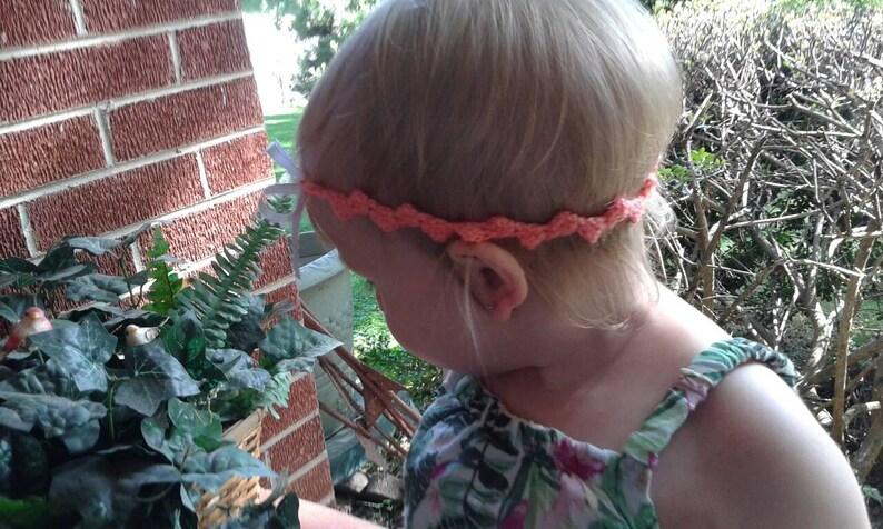 custom headbands Crochet Baby girl headband Preemie infant toddler child sizes Crochet headband baby girl shower gift Newborn headband.