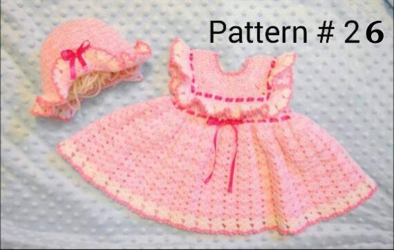 Baby Girl Crochet Pattern Dress Pattern Baby Hat Pattern Etsy