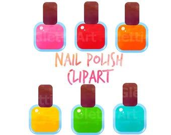 Nail Polish Clipart Etsy