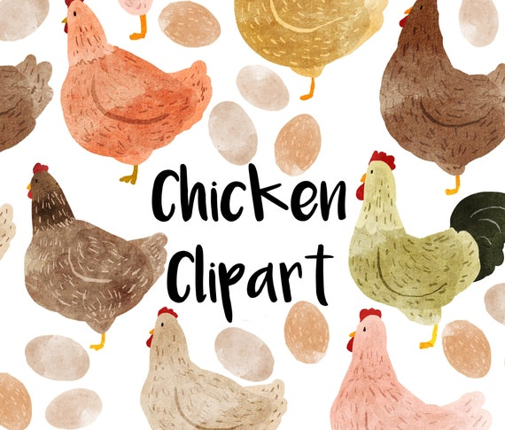 Chicken Clip Art Digital  Scrapbook Easter Chicken Digital clipart Chickens Instant Download