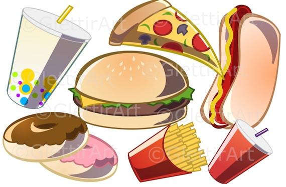 Fast-Food-clipart | Stock-Vektor | Colourbox