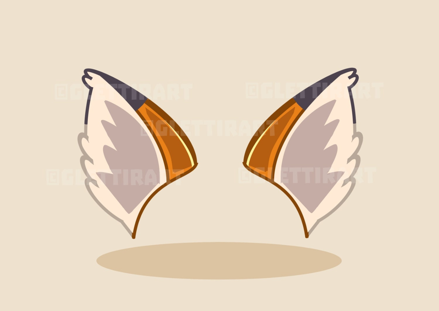 fox ears clipart clipart for personal and commercial use etsy
