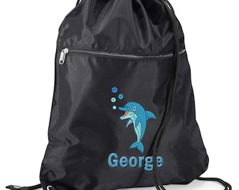PE GREAT GIFT 4 KIDS /& NAMED 2 GIRAFFE PERSONALISED GYM DANCE// SWIMMING BAG