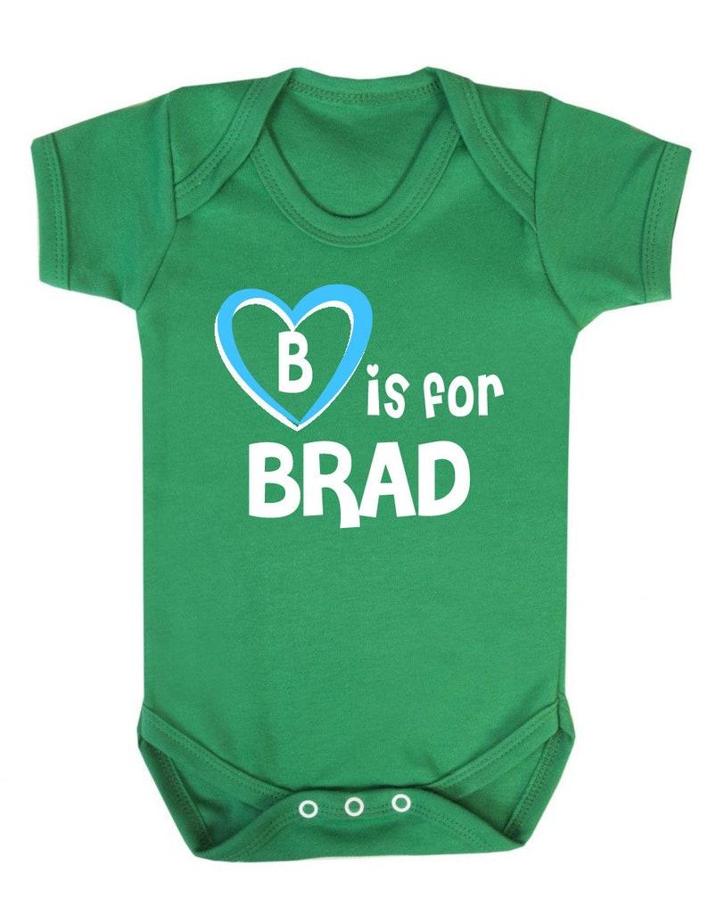 Brad Baby Shower Gift Gift for Baby Brad B is for Brad Baby Vest