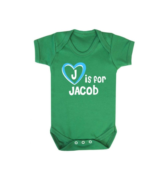 J is for Jacob Baby Gift Set Bib and Vest