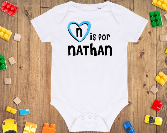 Nathan Baby Gift N is for Nathan Baby Bodysuit Baby Called Nathan Gift