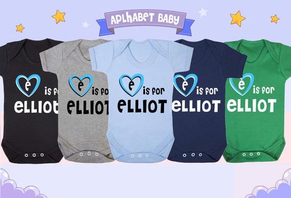 E is for Elliott Baby Vest Gift for Baby Elliott Elliott Baby Shower Gift