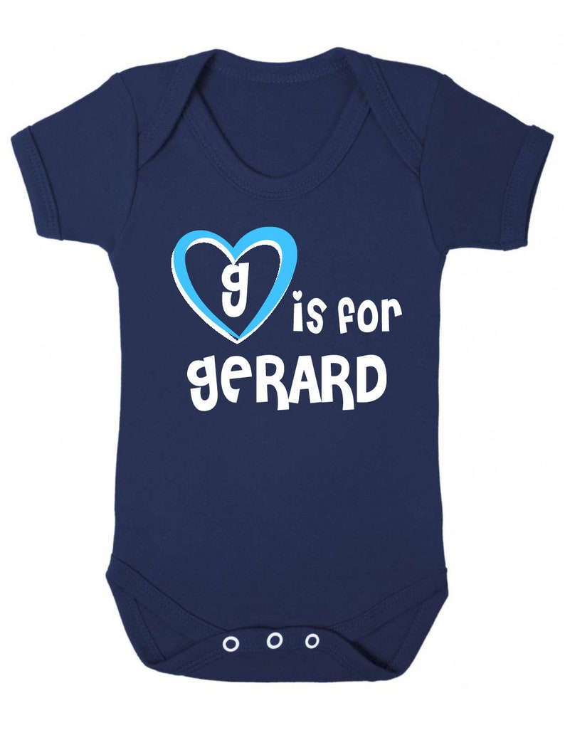 G is for Gerard Baby Vest Gerard Baby Shower Gift Gift for Baby Gerard