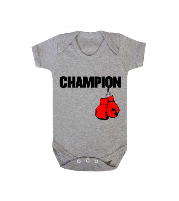 Champion Boxing Baby Bodysuit//Baby Grow