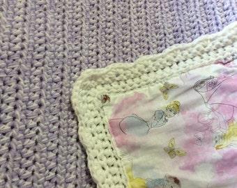Hand Crocheted Disney Princess Blanket