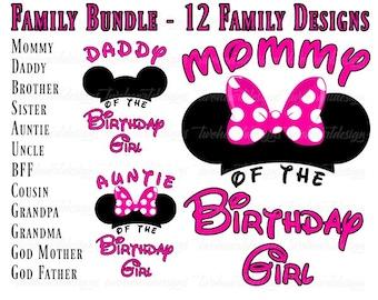 8bb4da095 12 Designs - Minnie Mouse Hot Pink/Black Family Shirts - Savings Bundle -  Iron On - Digital - You Print