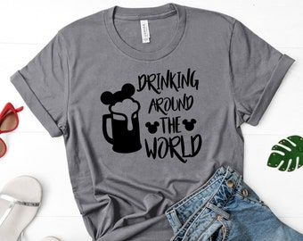 365df0769 Drinking Around the World Beer Mug - Vinyl Iron On Transfer - Shipped - DIY  Iron On