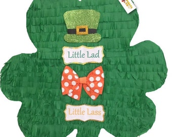 3c26e280c35f St. Patrick's Gender Reveal Piñata, Available as Pull Strings or Traditional
