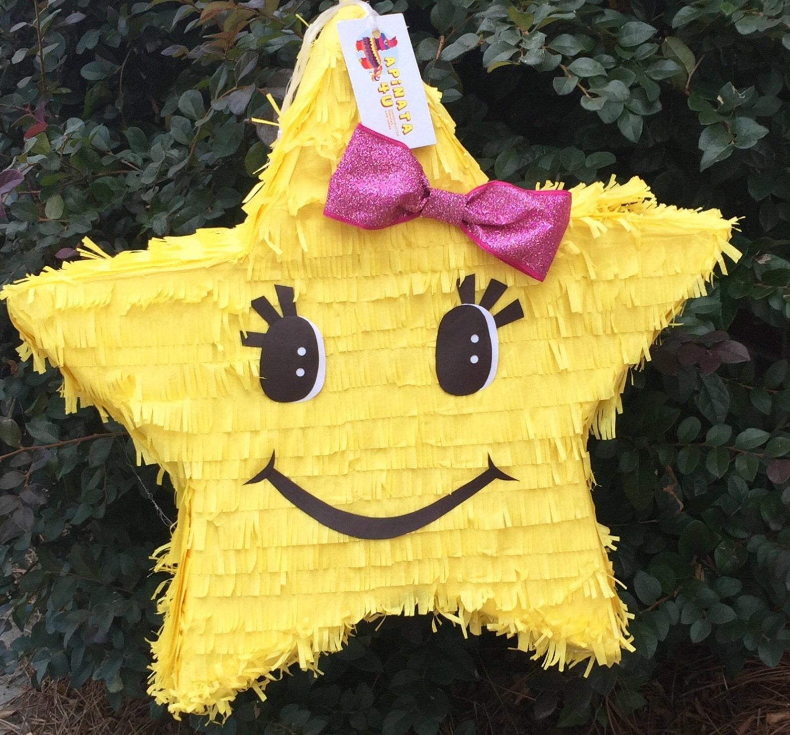 Smiley Face Star Pinatas