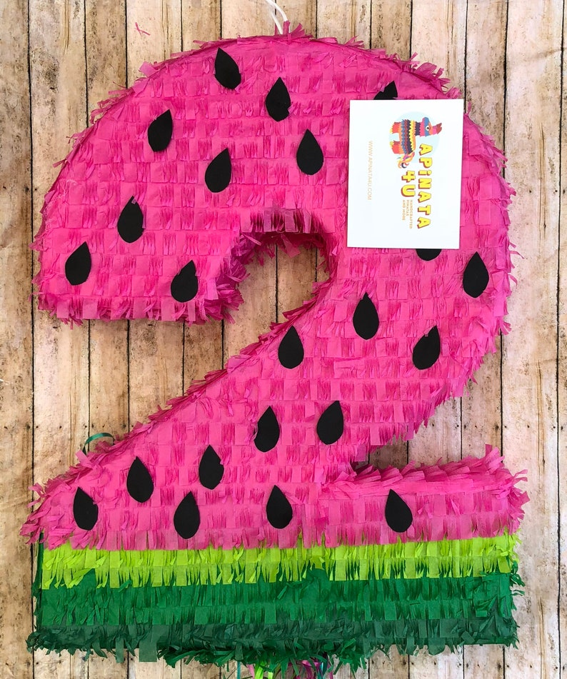 Large Number 2 Watermelon Pinata
