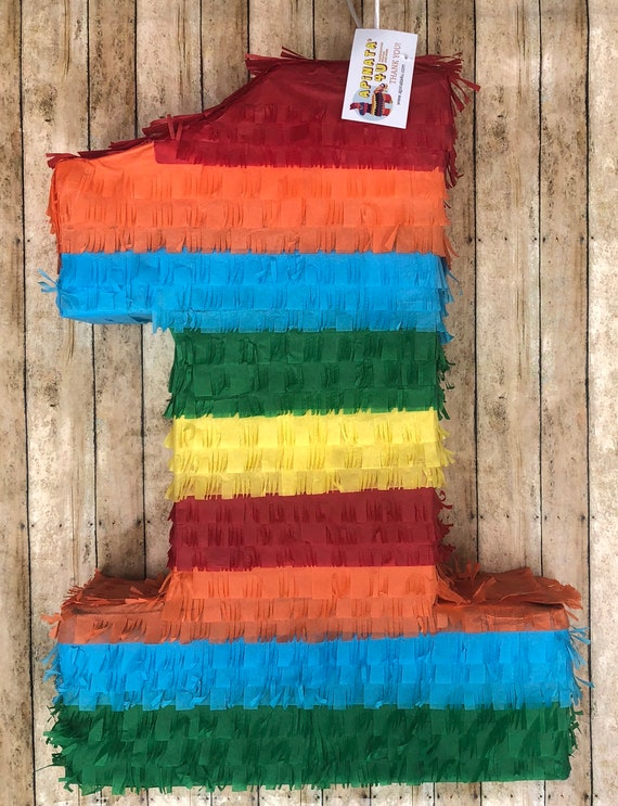 Large Number One Pinata Fiesta Theme 24 Tall