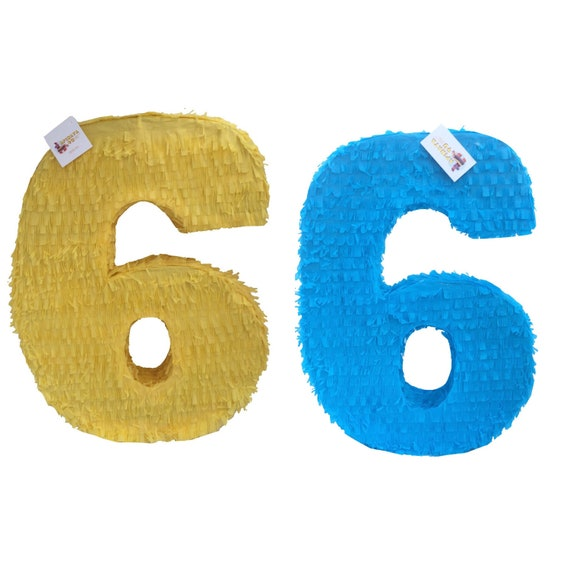 Sale Large Solid Color Blank Number Six Pinata Great to create your own Theme!