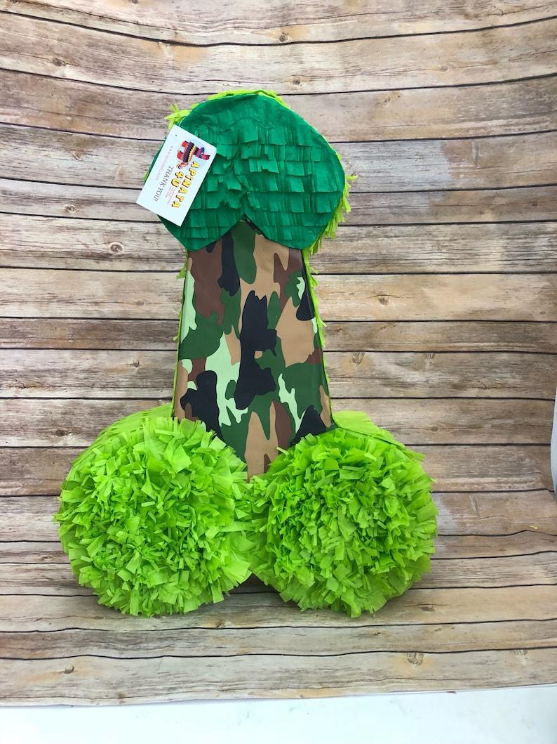 Pecker Pinata Camouflage Theme 24 Tall Bachelor Bachelorette Party