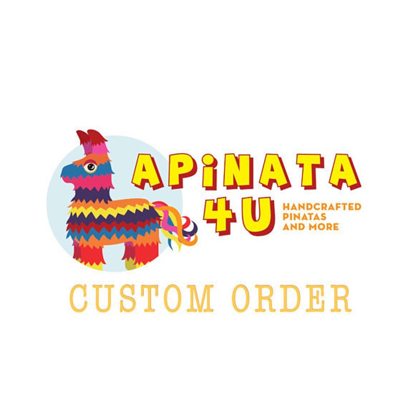 Personalized Number Three Pinata Fifth Birthday