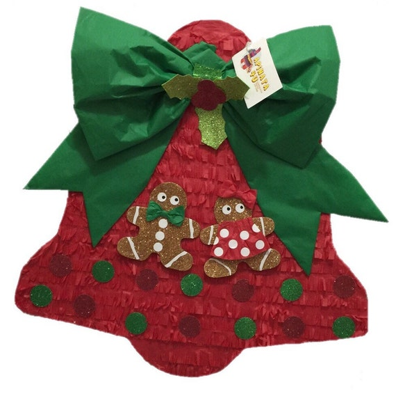Christmas Pinata.Sale Ready To Ship Christmas Bell Pinata Great For Christmas Gender Reveal