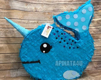 New Item! Narwhal Pinata Whale Pinata