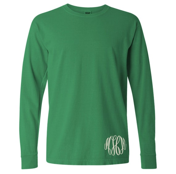 COMFORT COLORS long-sleeved tee with monogram