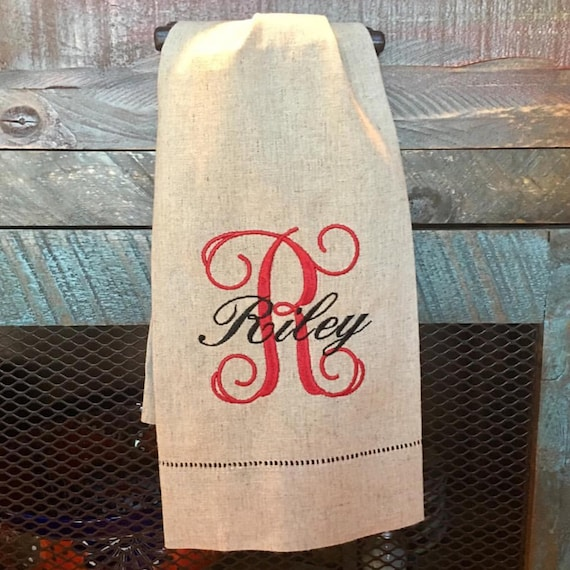 RILEY Personalized Tea Towel