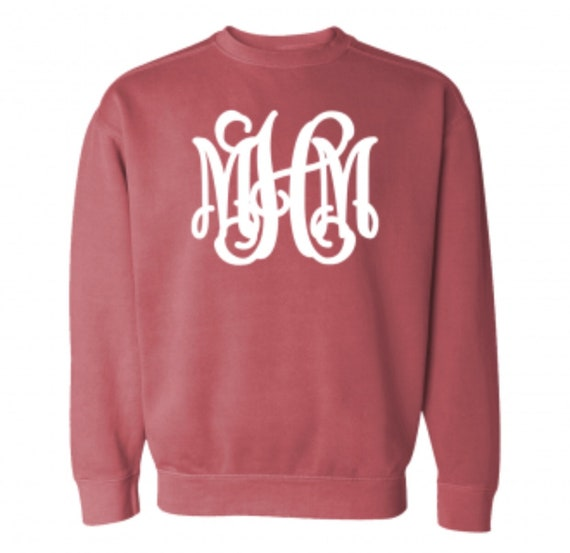 COMFORT COLORS SWEATSHIRT with full-chest monogram