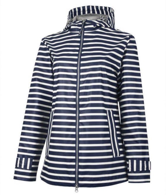 CHARLES RIVER STRIPED rain jacket