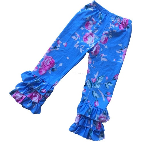 FLORAL RUFFLE PANTS