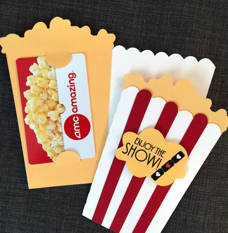 Movie Gift Card holder Anniversary gift Gift for family Movie image 0
