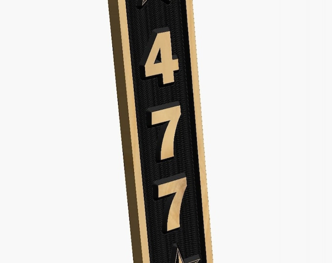 "Personalized Vertical Address Marker (19"" High x 4 1/4"" Wide)"