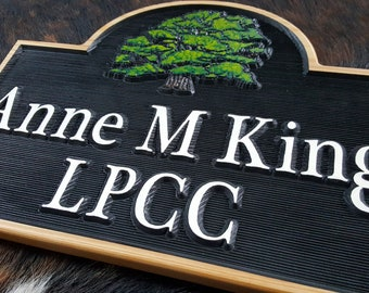 Personalized  Address Sign making your Address in Style Carved Wood Sign Customized Hand painted House Numbers