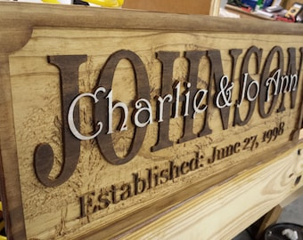 Personalized Rustic Anniversary or Wedding Gift Sign