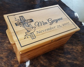 Beautiful Faith Chest or Baptism Chest - A gift to last the ages... What a special gift for that very special day.