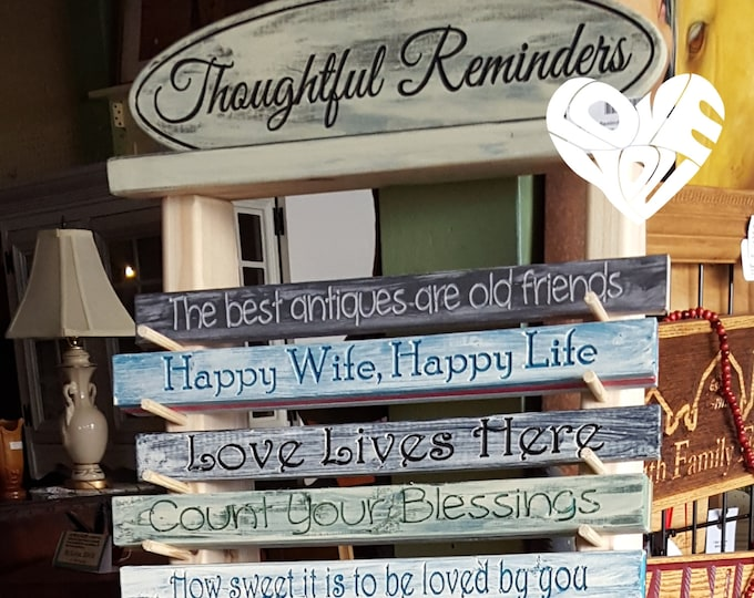 Thoughtful Reminders Collection - Buy 1 get 2 Signs -  Bookshelf Thoughtful Sayings - Home or Office Decorations