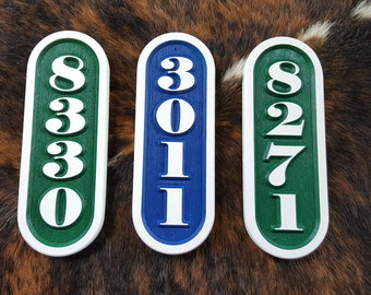 """Personalized Vertical Address Marker (12 1/2"""" High x 4 1/2"""" Wide)"""