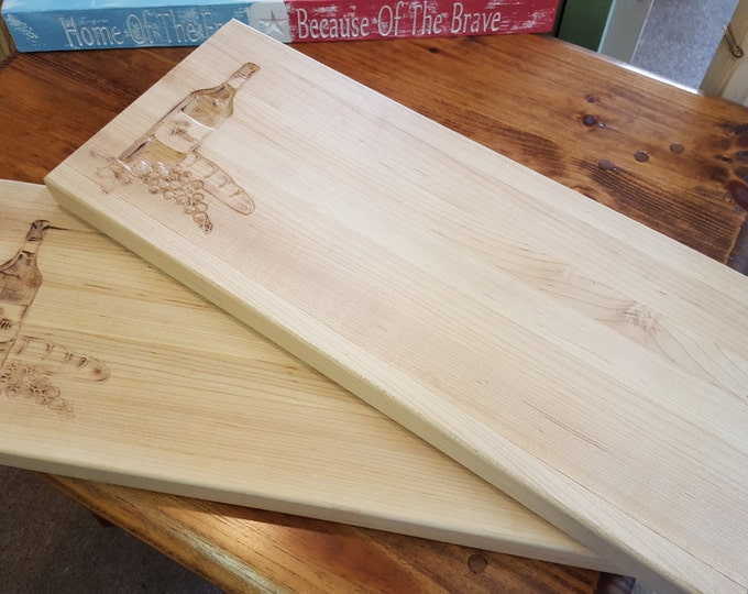 Beautiful Bread and Cheese Cutting Board made Hard Maple. Great for the bar!