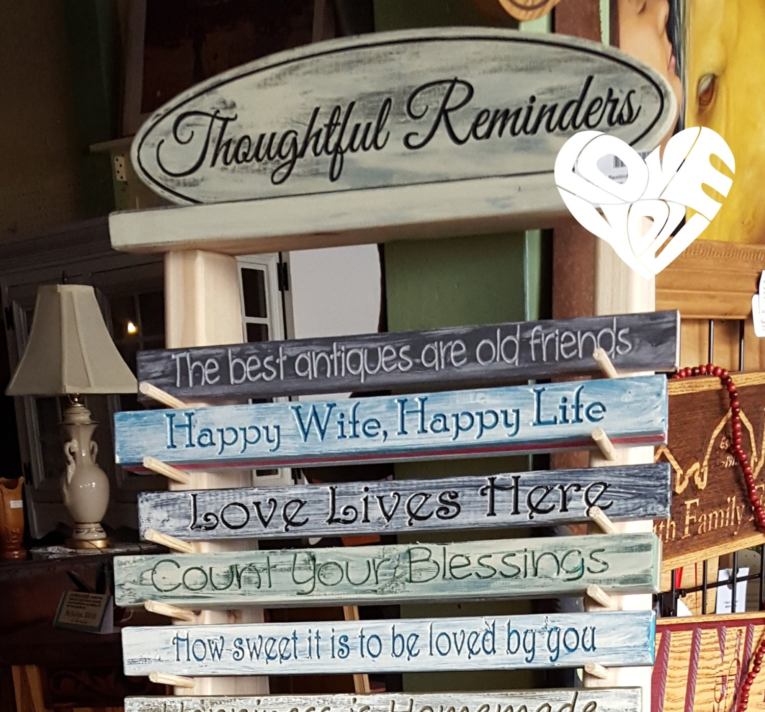 thoughtful reminders collection buy 1 get 2 signs bookshelf