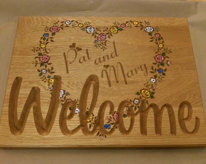 Personalized Welcome Heart