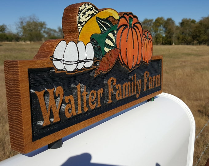 Personalized Mailbox Topper a Great way to add Numbers to your Mailbox