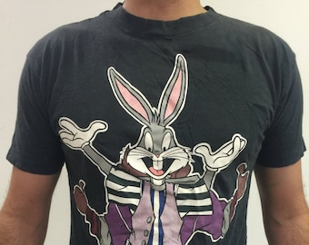 4d54fe4e806 Vintage 90 s (1994) Looney Tunes Warner Bros. Bugs Bunny   Taz T-shirt  (Made in USA) (Size L)