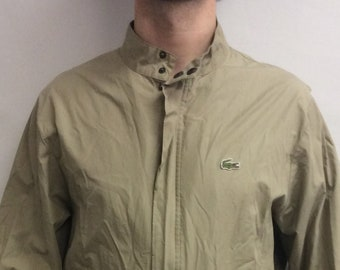Vintage 90 s Izod Lacoste Khaki Golf Jacket (Size L) 985b4efd7aec