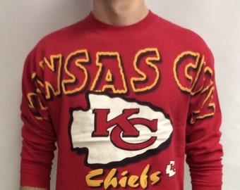 f3c57db3c Vintage 90 s (1996) Kansas City Chiefs Football Sweatshirt (Size M)