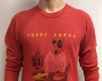 Vintage 80s Yuppy Puppy Spuds Mackenzie Budlight Budweiser Sweatshirt Size L