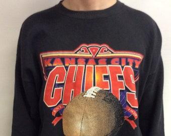43b60c07c Vintage 90 s (1994) Kansas City Chiefs Football Sweatshirt (Size XXL)