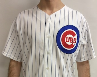 bac08026cff Vintage 90 s Chicago Cubs Pinstripe