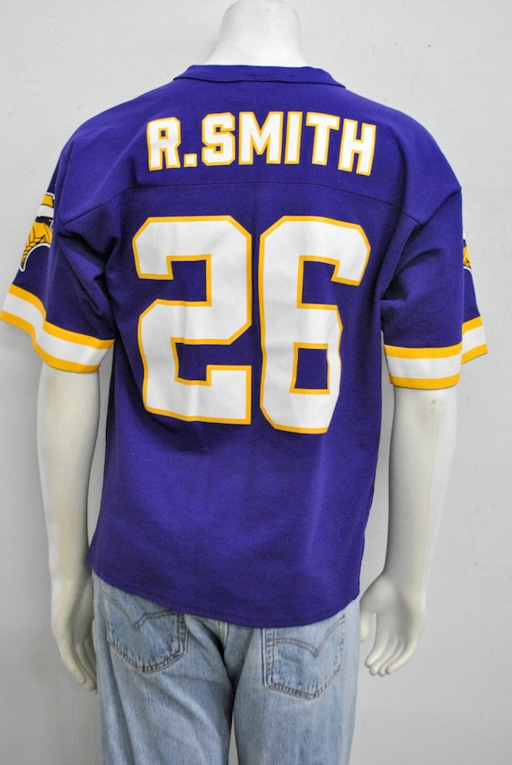 d243cb014 Vintage Minnesota Vikings 26 Robert Smith Jersey