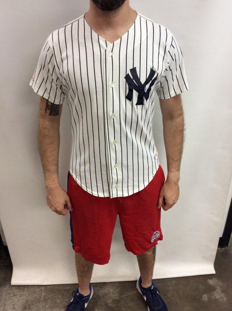 83da85c437eb Vintage 90's New York Yankees Pinstripe Baseball Jersey (Made in USA) (Size  M)