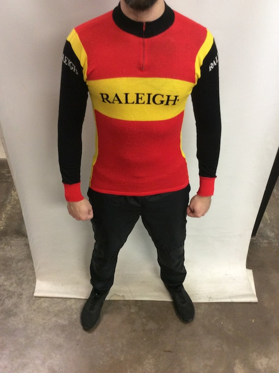 Vintage 70's Original Raleigh Black Red & Yellow R